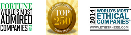 Fortune Magazine World's Most Ethical Companies Information Week Top 250 Innovators